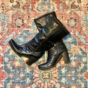 Vintage Patent Leather Tall Boots